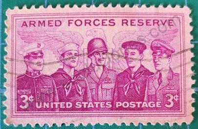 Reservistas de las Fuerzas Armadas sello EEUU 1955