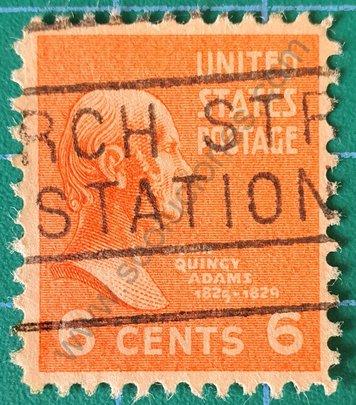 Sello John Quincy Adams - Estados Unidos 1938
