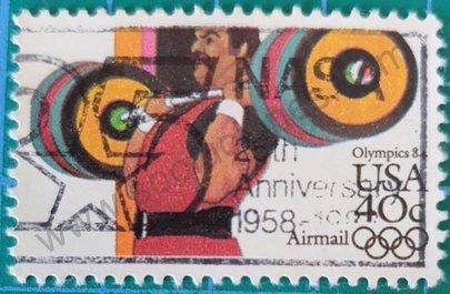 Sello Levantamiento pesas 1983 - Estados Unidos