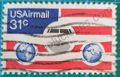 Sello Correo Aereo 1976 Estados Unidos
