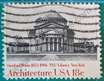 Biblioteca Universidad de New York - Sello USA 1981