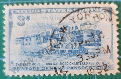 Sello Transporte ferroviario - EE.UU. 1952 3 ¢