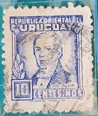José Ellauri sello de Uruguay 1945