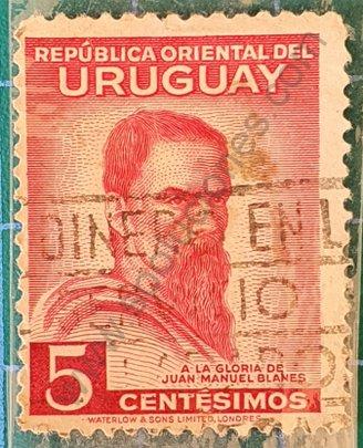 Juan Manuel Blanes 5 centesimos - Sello Uruguay 1941