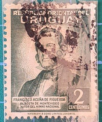 Francisco Acuña de Figueroa - Sello Uruguay 1942 2c