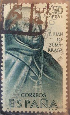 Sello Juan de Zumárraga - España 1970