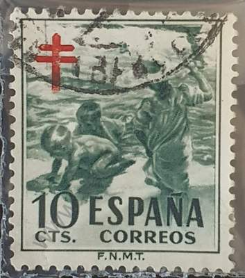 Sello pro-tuberculosis 10c - España 1951