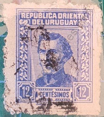 José Gervasio Artigas 12c - Sello Uruguay 1951