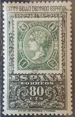 Sello 80c Centenario 1er sello dentado - España 1965