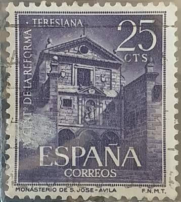 Monasterio San José de Avila - Sello España 1962