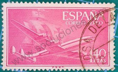 Avión Superconstellation 1955 España - 1'40PTAS sello