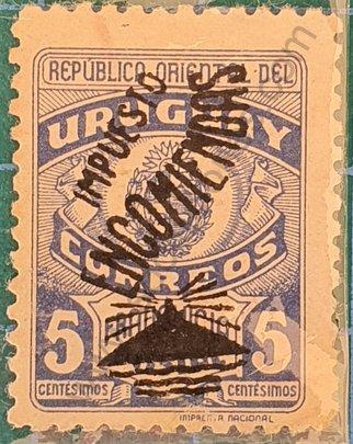 Sello Uruguay 1948 Encomiendas - 5c