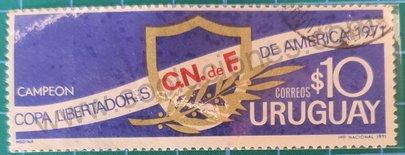 Copa Libertadores de América 1971 sello Uruguay $10