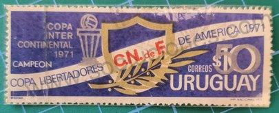 Uruguay campeón Copa Libertadores - sello 1972 $50