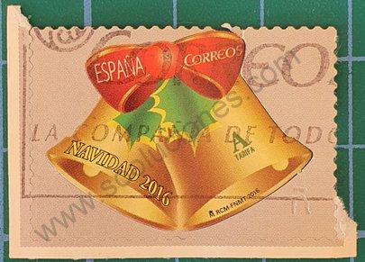 Campanas de navidad - Sello España 2016