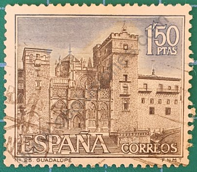 Monasterio de Guadalupe - Sello España 1966