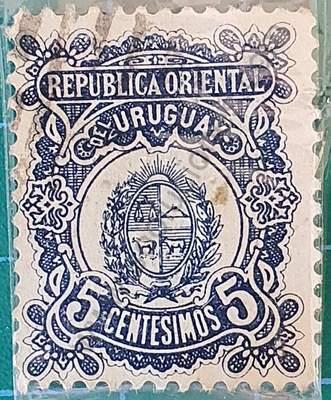 Escudo Nacional de Uruguay - Sello 1906 5c