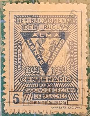 Asociación Cristiana de Jóvenes - Sello Uruguay 1944