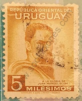 Aniversario muerte de Blanes - sello Uruguay 1941 5m
