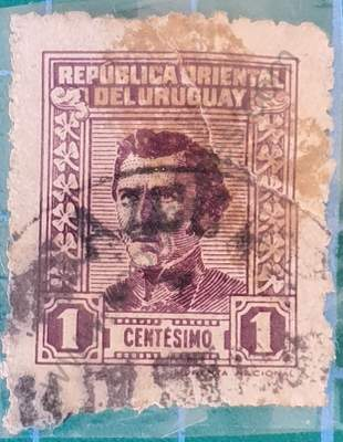 Busto Artigas 1 centésimo año 1950 - Uruguay