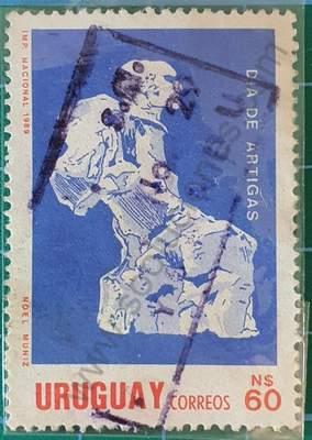 Día de Artigas N$ 60 - sello de Uruguay 1990