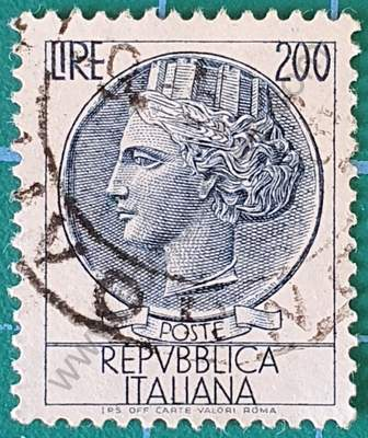 Sello moneda Siracusa 200L - Italia 1959