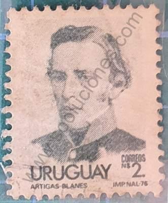 José G. Artigas - Sello Uruguay 1977 N$ 2