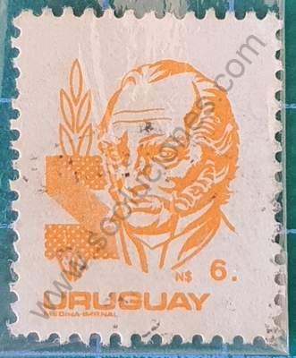 Artigas N$6 - Sello de Uruguay 1985
