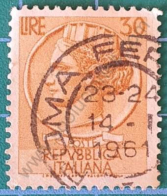 Moneda de Siracusa 30 Liras - Sello Italia 1968