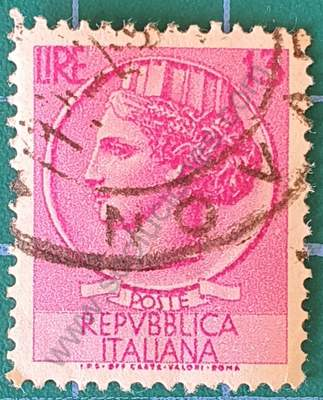 Sello Moneda Siracusa 13 Liras - Italia 1955