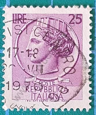 Moneda Siracusa 25 Liras - Sello Italia 1955