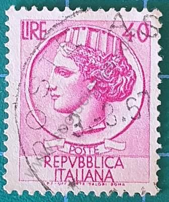 Moneda Siracusa 40 Liras - Sello Italia 1968