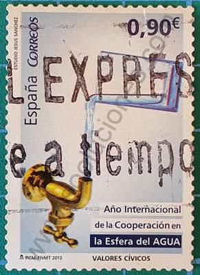 Sello agua de vaso volviendo al grifo - España 2013