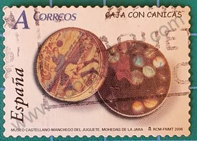 Caja de canicas - Sello de España 2006