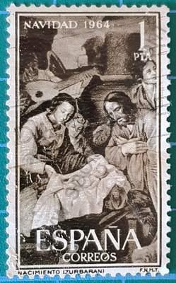 Natividad de Zurbarán 1964 - Sello España
