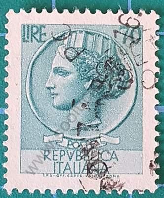 Sello Moneda Siracusa 70 liras - Italia 1968