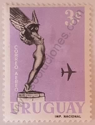 Homenaje a Boiso Lanza 3c - Sello Uruguay 1960