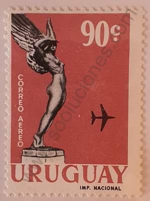 Homenaje a Boiso Lanza 90c - Sello Uruguay 1960