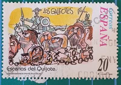 Los Galeotes del Quijote - Sello España 1998