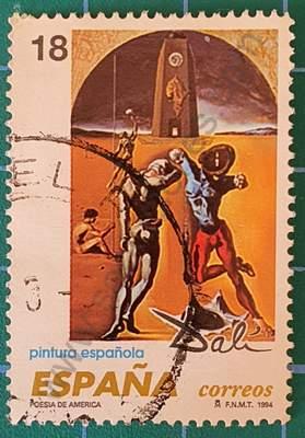 Sello Poesía de América - Dalí - Sello España 1994