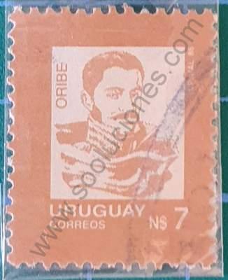 Manuel Oribe N$7 - Sello de Uruguay año 1986