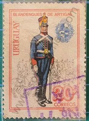 Uniforme Blandengues 20$ - Sello Uruguay 1972