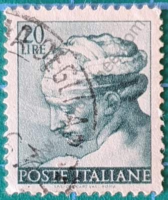 Jefe de la sibila libia - Sello Italia 1961 20L