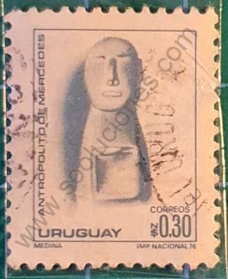 Antropolito de Mercedes - Sello Uruguay 1976
