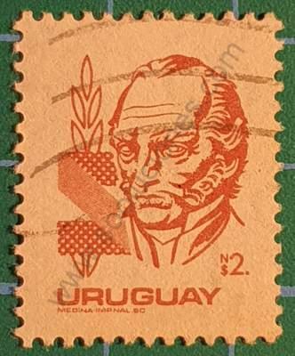 Jose G. Artigas N$2 - Sello Uruguay 1980