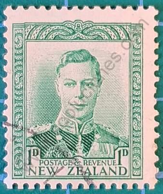 Rey George VI 1p - Sello Nueva Zelanda 1941