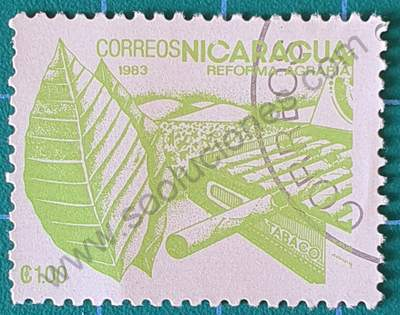 Sello sobre el Tabaco - Nicaragua 1983 1 C$