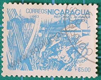Sello Azúcar 5C$ - Nicaragua 1983
