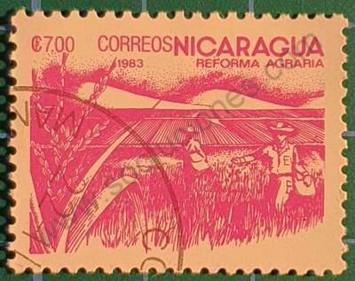 Sello sobre el Arroz - Nicaragua 1983 7 C$