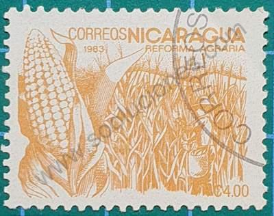 Sello sobre el Maíz - Nicaragua 1983 4C$